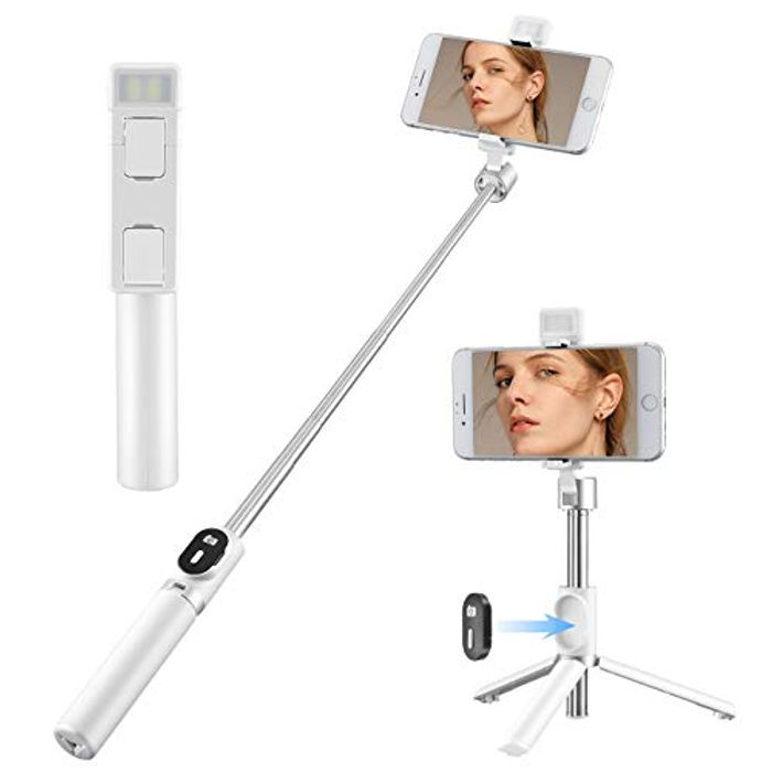 DEAL STACK - ACEHE 3 in 1 Portable Extendable Selfie Stick Tripod + 10% Coupon