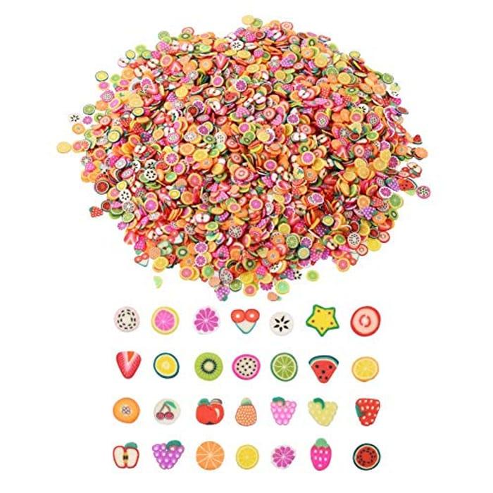 3200 Pieces Mini 3D Nail Art Fruit Slices
