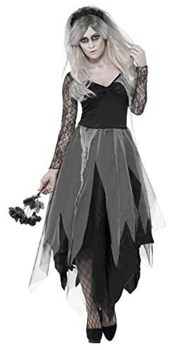 Only Size Small Smiffys Women's Dress and Rose Veil, Legends of Evil,