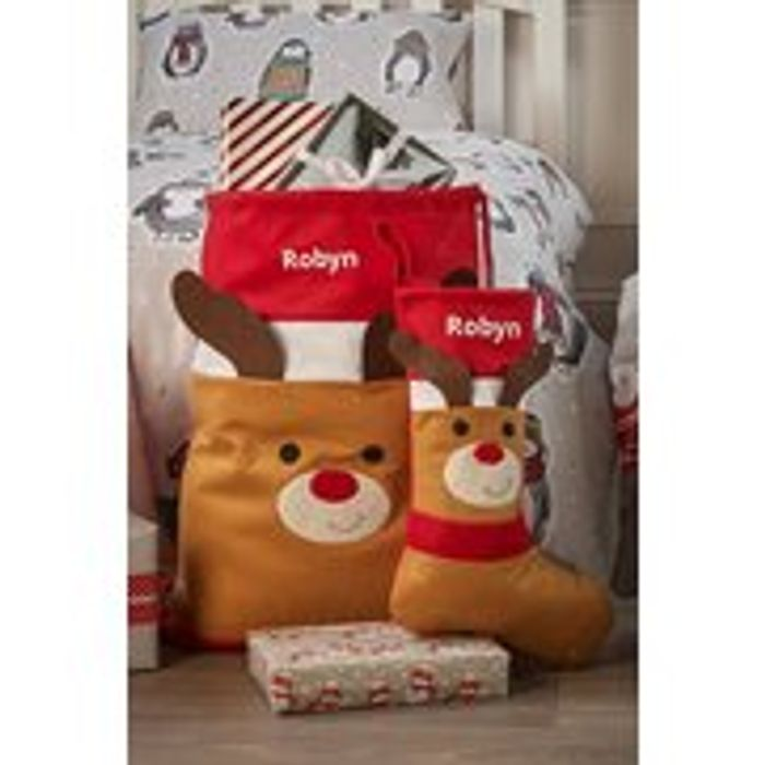Personalised Rudolph Sack and Stocking Set - is It Too Early ?