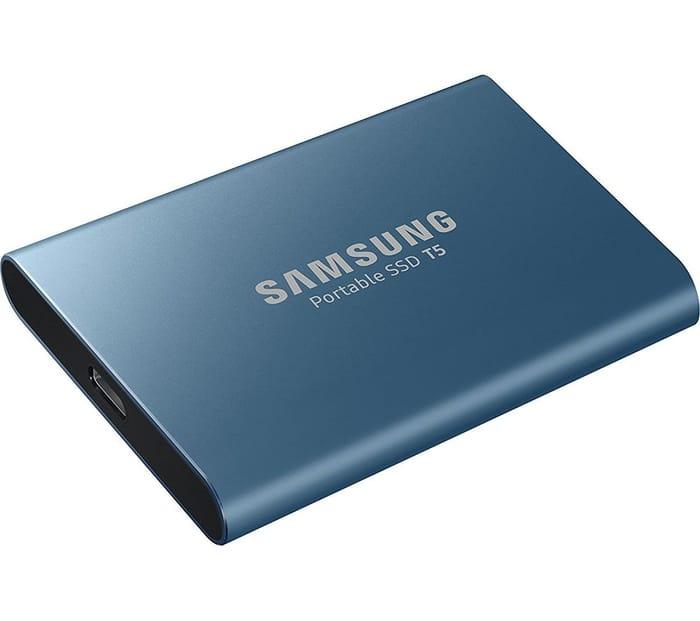 SAMSUNG T5 External SSD - 500 GB, Blue