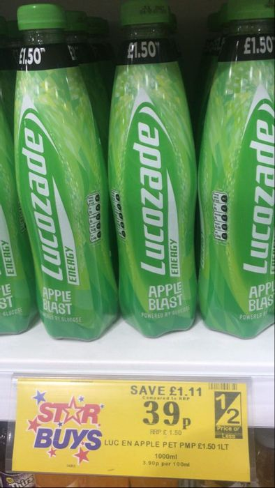 Big Bottles of Apple Blast Lucozade (1000ml)