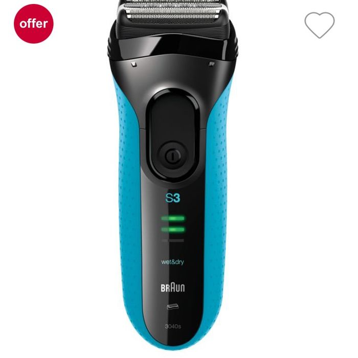 Braun ProSkin 3040s Electric Shaver - Rechargeable Wet & Dry Electric Razor