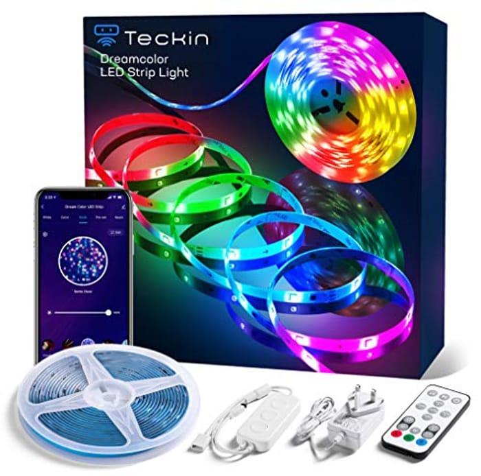 LED RGBIC Dreamcolour Music Sync Strip Lights - 5m
