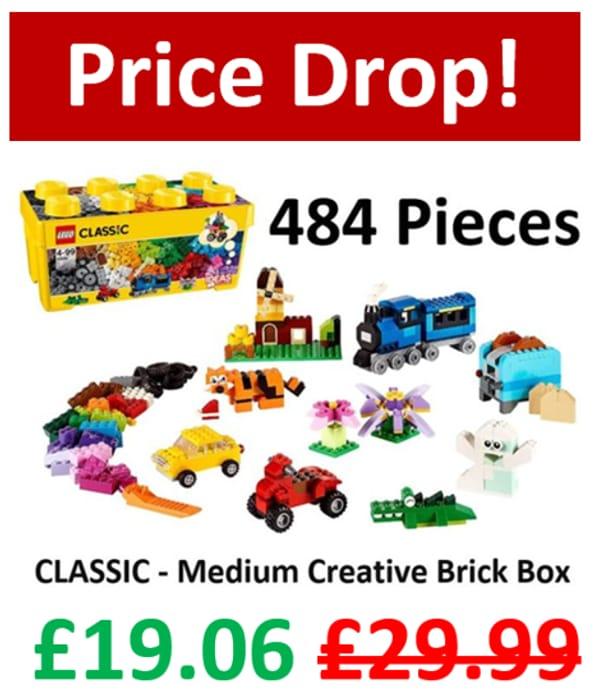 SAVE £10.93 - LEGO CLASSIC - Medium Creative Brick Box (10696)