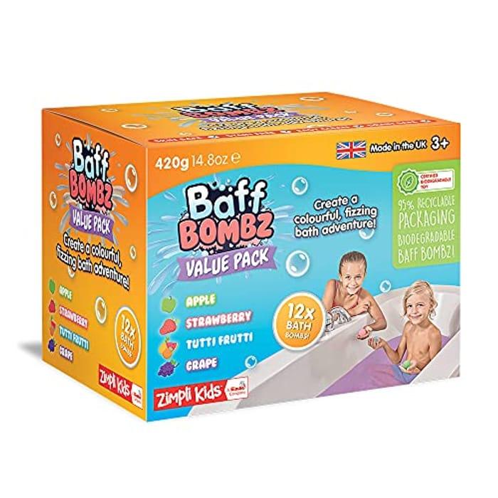 12 X Bath Bombs from Zimpli Kids in Gift Box, Ideal Sensory Birthday