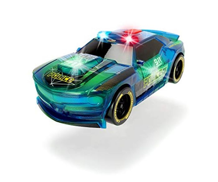 Dickie Toys Lightstreak Police Friction-Driven Toy Car - 20cm