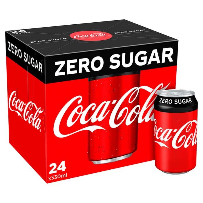 Coke Zero 24 X 330ml Cans Boxes Are £6.50