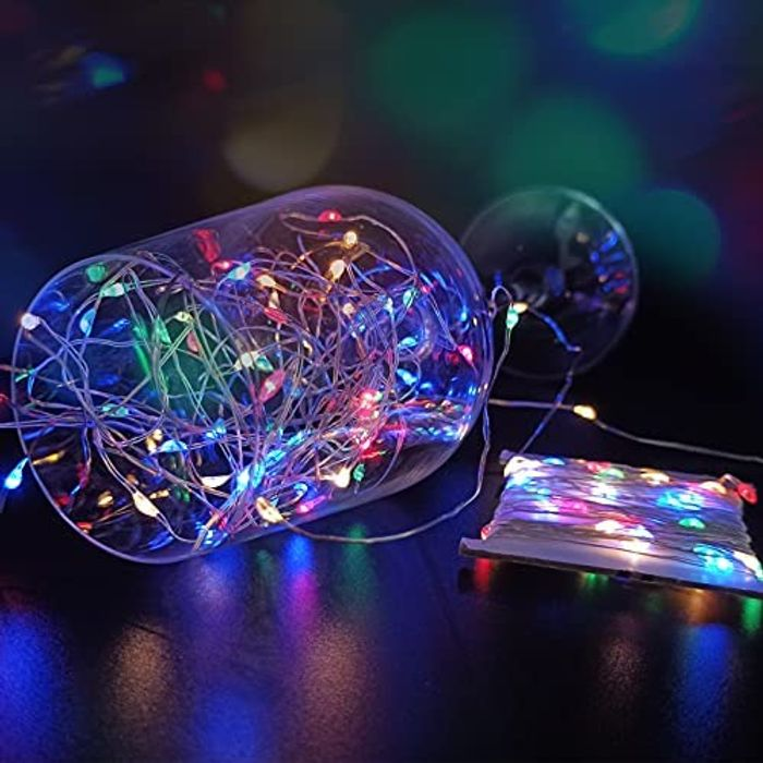 2 Pack 240 LED Waterproof Solar String Lights with 8 Modes