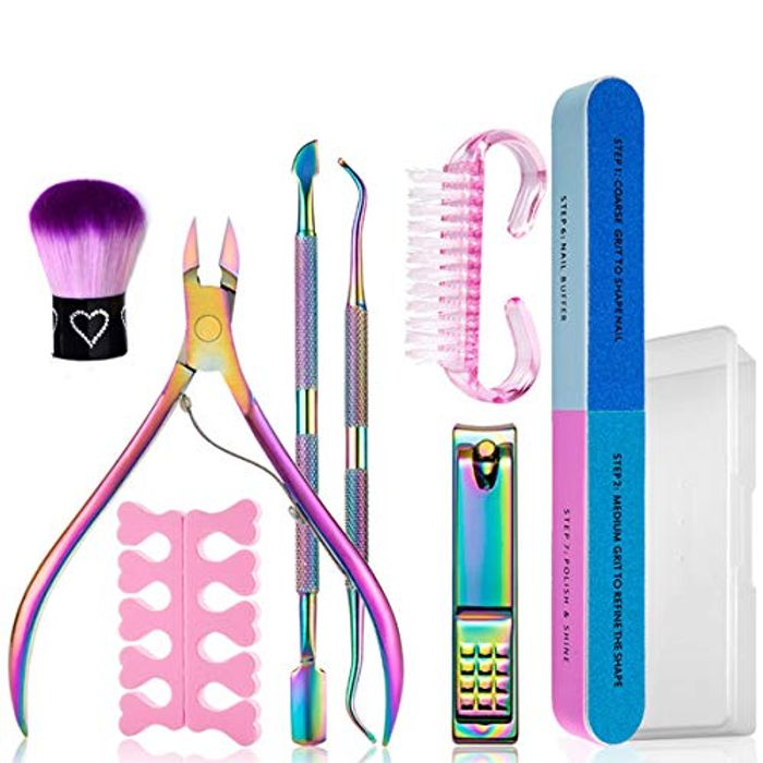 9PCS Cuticle Pusher and Cutter & Nail Polish Remover Set - Only £6.49!