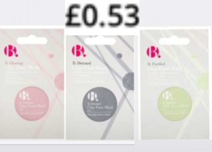 B. Glowing , Detox. . Purified Clay Mask 10ml Each 53P only