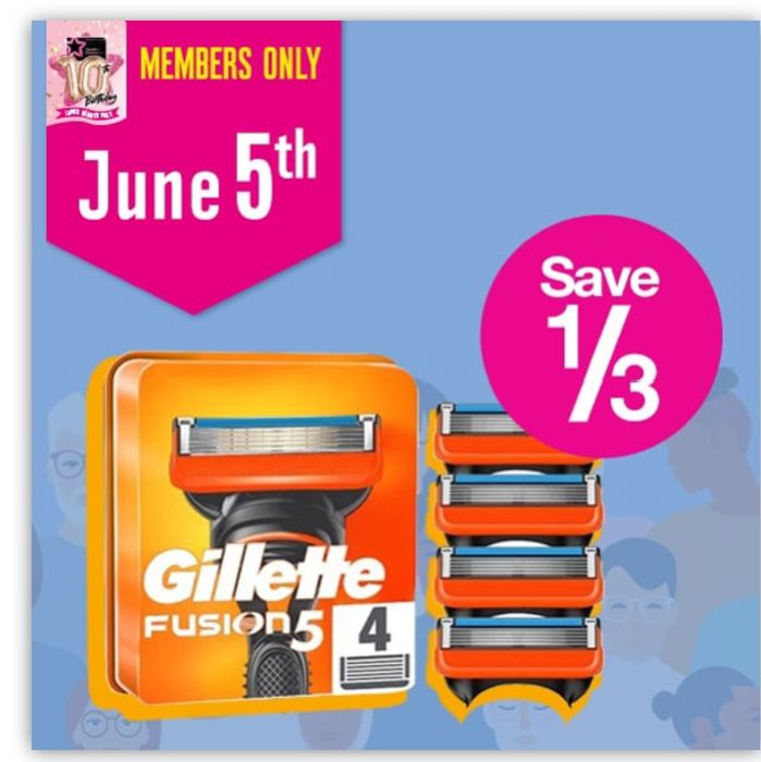 Daily Deals! save 1/3 on Gillette Fusion5 Mens Razor Blade Refills,4 Count