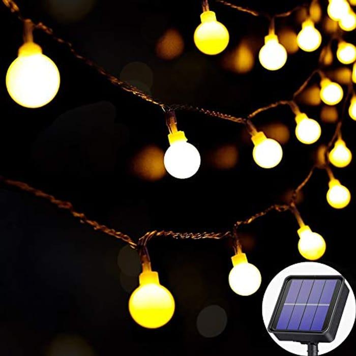 Solar Outdoor Lights Waterproof, 60LED 8M/27Ft
