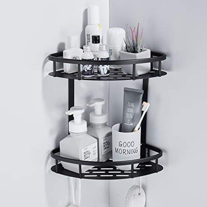 GERUIKE 2 Tier Bathroom Shower Shelves