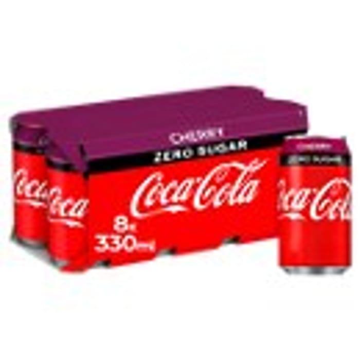 Coca-Cola Zero Sugar Cherry / Vanilla / Zero Cans 8x330