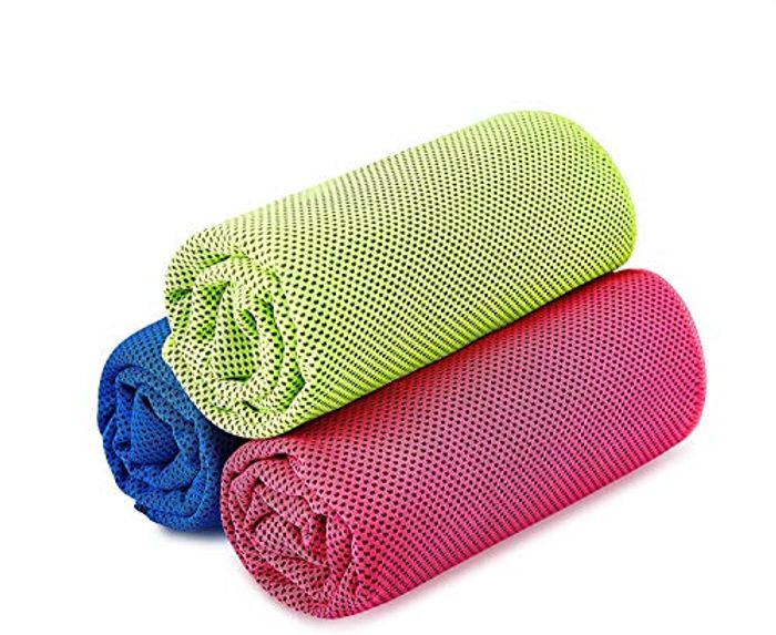 Kuyou 3 Pack Microfibre Cooling Towels