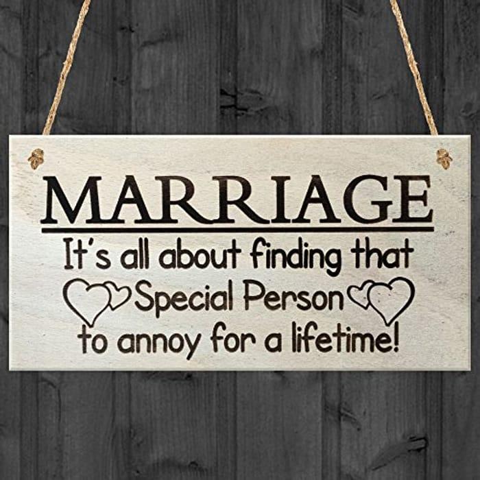 Humorous Anniversary / Spouse Gift
