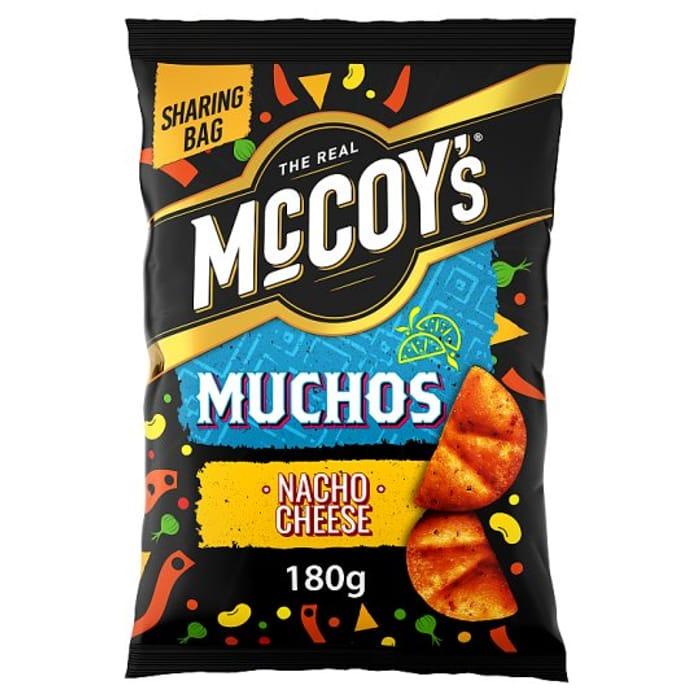McCoy's Muchos Nacho Cheese Tortilla Chips 180g