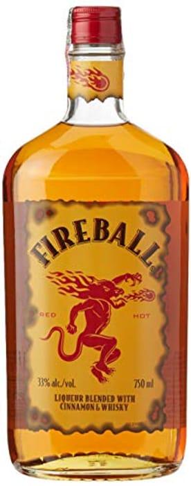 Fireball Cinnamon Whisky Liqueur, ABV 33%, 70cl