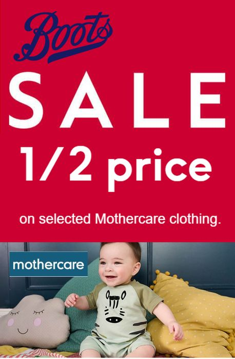 Special Offer! BOOTS SALE - 1/2 PRICE Mothercare Baby & Kids Clothing