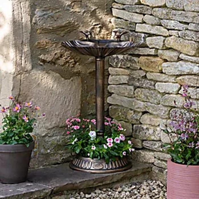 Bronze Bird Bath