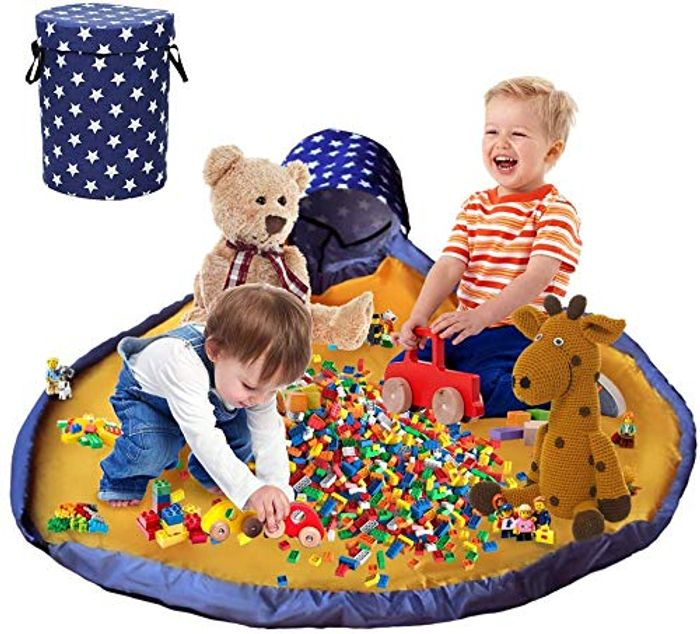 Toy Storage Basket and Play Mat