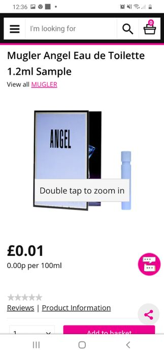 ANGEL Perfume Sample 1p Click and Collect (Superdug)