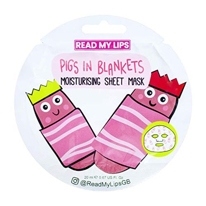 Funny Stocking Filler Pigs in Blankets Sheet Mask under a Quid