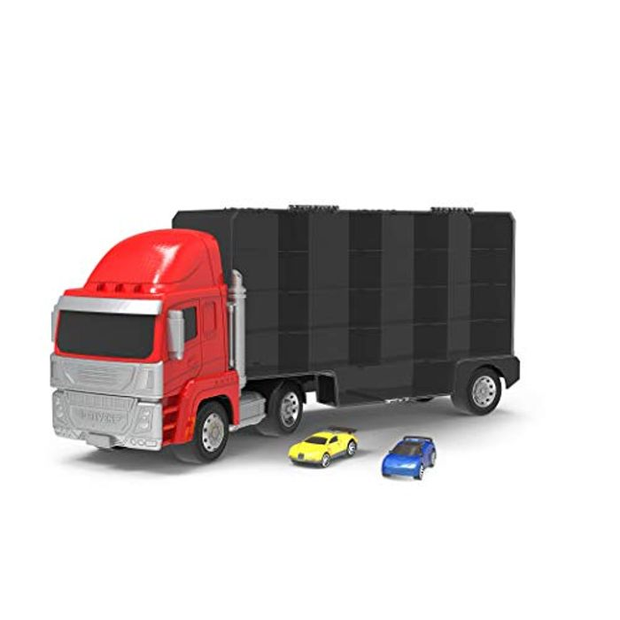 Quick Cars Carrier Truck and 2 Pullback Cars