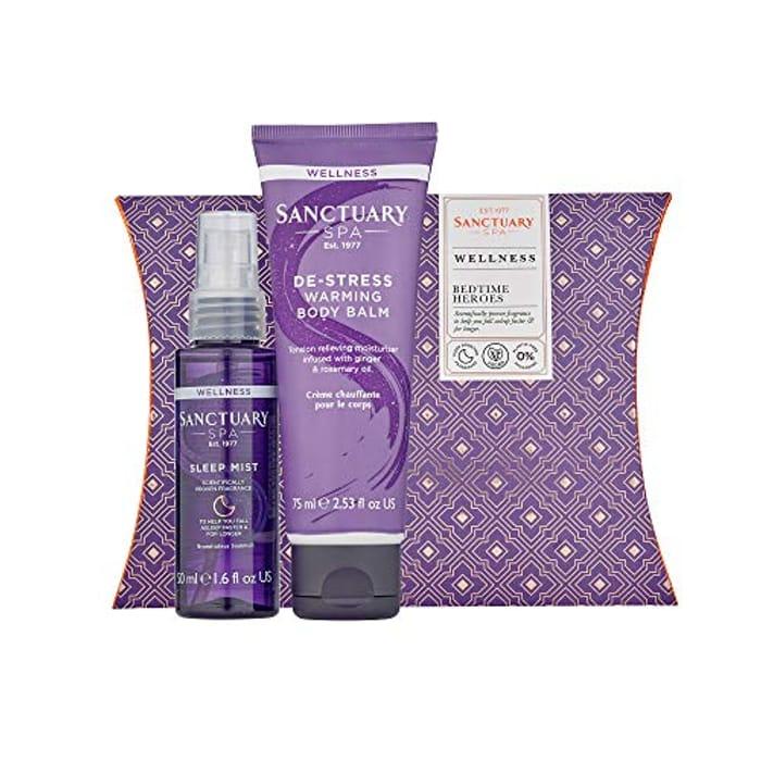 Sanctuary Spa Gift Set, Bedtime Gift with Sleep Mist Pillow Spray