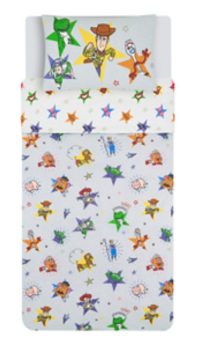 Toy Story 4 Easy Care Double Sided Reversible Duvet Cover Set - Single
