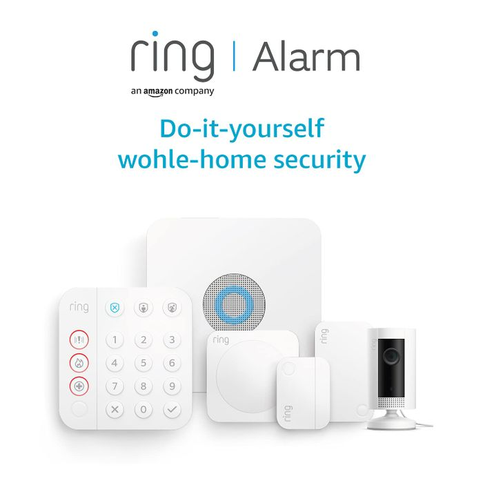 All-New Ring Alarm 5 Piece Kit (2nd Generation) + Ring Indoor Cam by Amazon