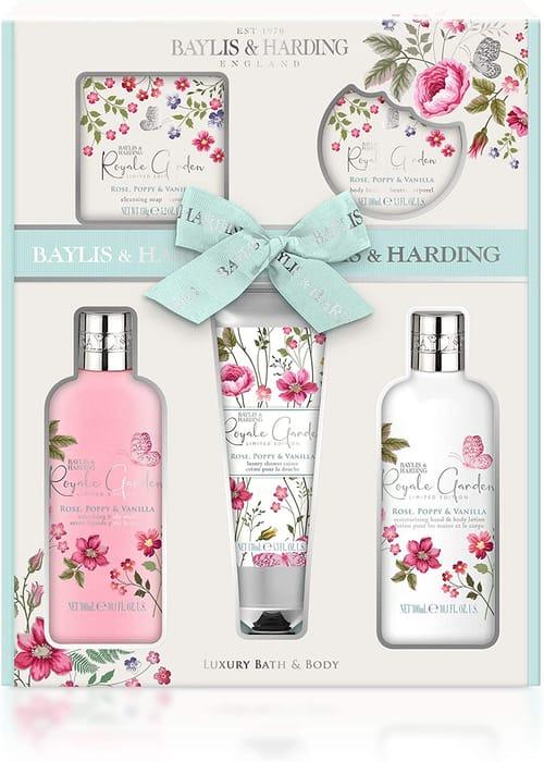 Baylis & Harding Royale Garden Rose, Poppy & Vanilla 5 Piece Set
