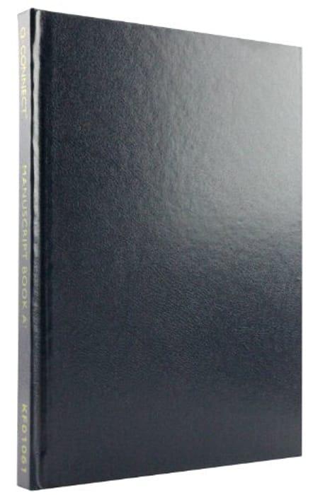 Q-Connect A5 Ruled Feint 192 Pages Manuscript Book