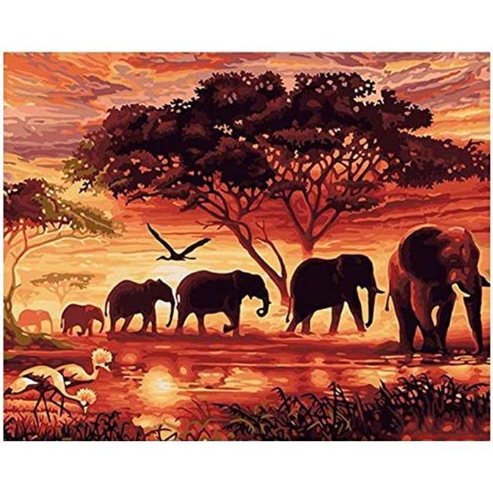 5D 'Elephants' DIY Diamond Painting Kit