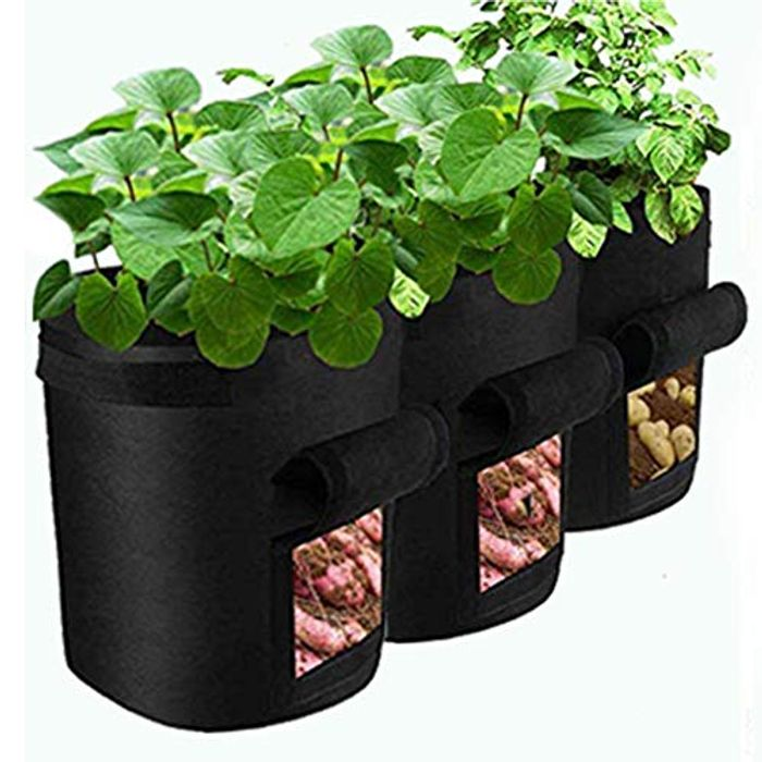 Garden Vegetable Breathable Fabric Growing Pot, 3 Pack - Only £7.79!