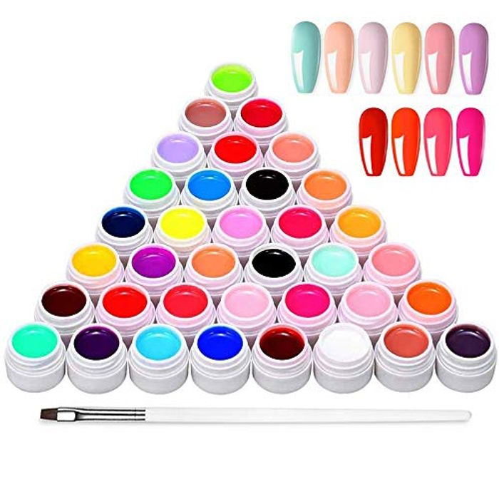 Anself 36 Mix Colors Gel Nail Polish Set
