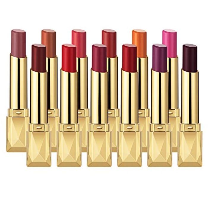 MISKOS 12PC Non-Stick Waterproof Matte Lipstick Set - Only £8!