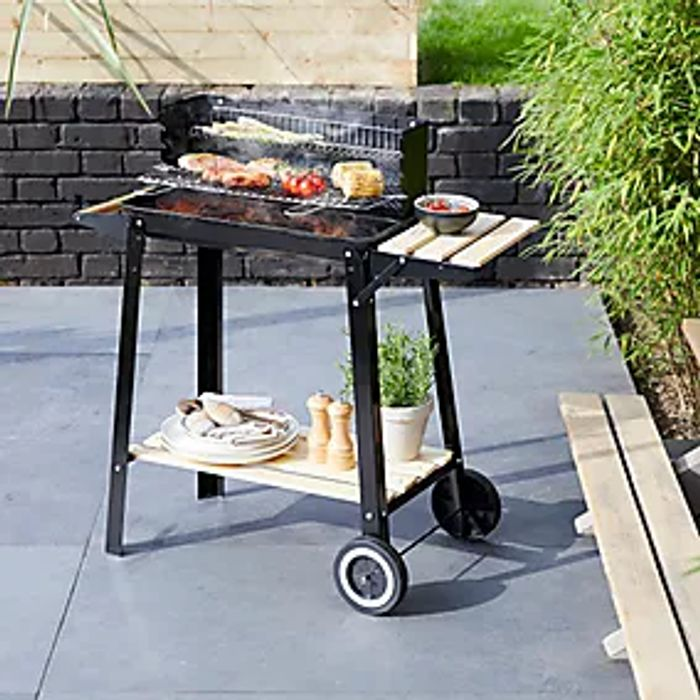 Black Trolley BBQ Grill - Only £25!