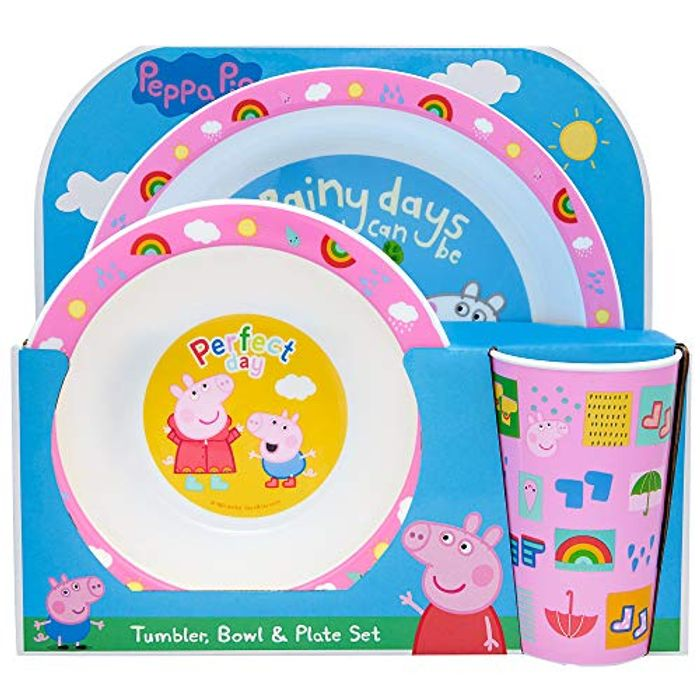Peppa Pig Perfect Day 3 Piece PP Tableware Set