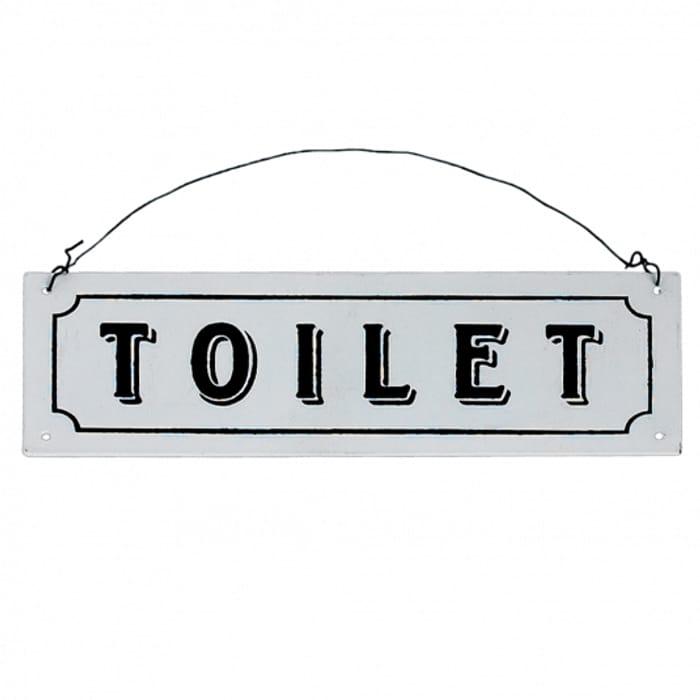 Toilet Metal Sign at Rex London