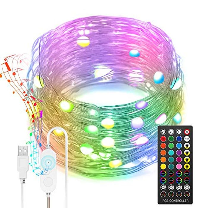 DEAL STACK - Nobent USB 10M Upgrade Fairy String Lights with Remote + 10% Coupon