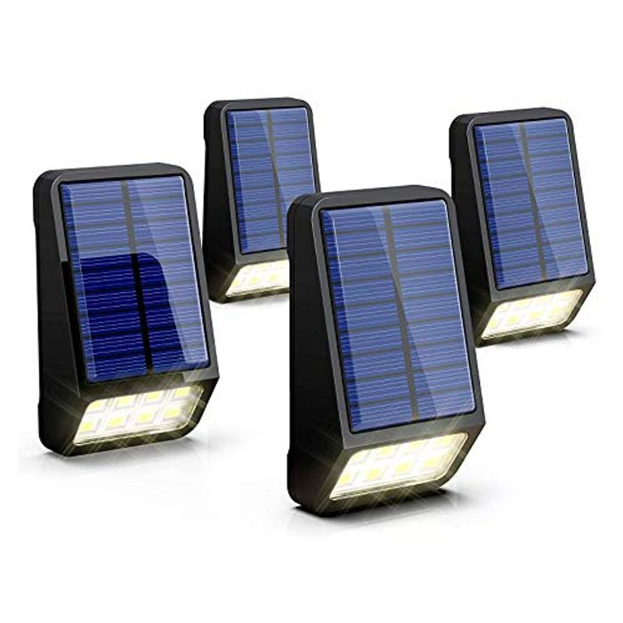 Solar Automatic Outdoor Lights 4 Pack Only £7.49 (Prime Delivery)