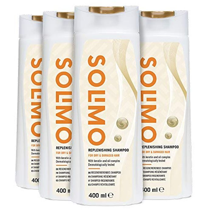 BEST EVER PRICE 4 Pack Solimo Replenishing Shampoo for Dry & Damaged Hair