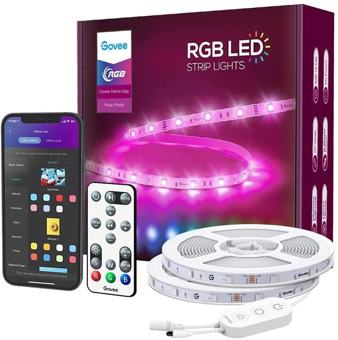 DEAL STACK - 15m RGB LED Strip Lights Google Assistant Compatible + 10% Coupon