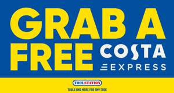 Free Costa Coffee at Selected Toolstation Branches (11 Stores) Temp Free