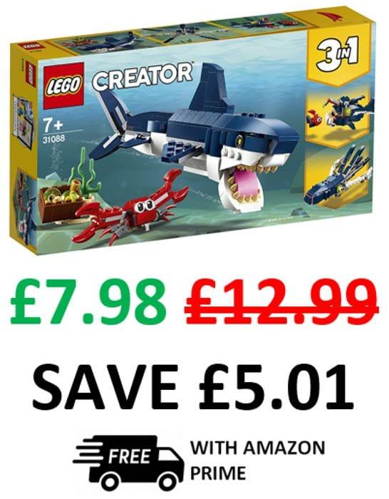 LEGO CREATOR 3-in-1 Deep Sea Creatures (31088)