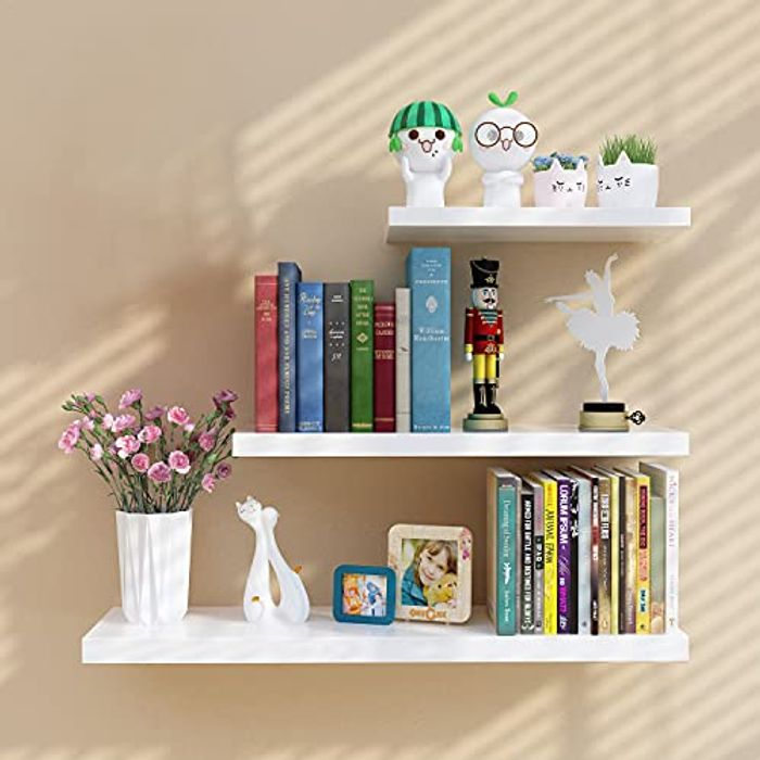 Wall Mounted Shelves Wall Storage Display, 3 Pack - Only £19.49!