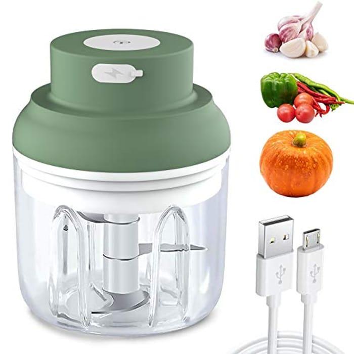 Mini Food Chopper with USB Charging Powerful Garlic Press Chopper - Only £6!