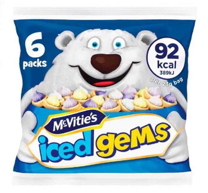 Half Price- McVitie's Iced Gems 6pk